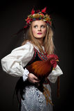 κορίτσι κοκκόρων Στοκ Φωτογραφία
