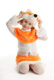 κορίτσι κοστουμιών Στοκ εικόνες με δικαίωμα ελεύθερης χρήσης