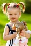 κορίτσι κουκλών λίγα Στοκ εικόνα με δικαίωμα ελεύθερης χρήσης