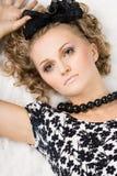 κορίτσι κουκλών όπως τα β&la Στοκ εικόνες με δικαίωμα ελεύθερης χρήσης