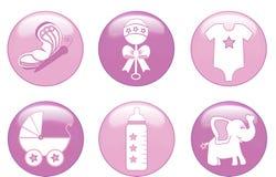 κορίτσι κουμπιών μωρών Στοκ φωτογραφίες με δικαίωμα ελεύθερης χρήσης