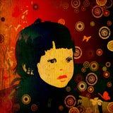 κορίτσι κύκλων Στοκ φωτογραφίες με δικαίωμα ελεύθερης χρήσης