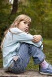 κορίτσι λίγα εννέα παλαιά &sigm Στοκ εικόνες με δικαίωμα ελεύθερης χρήσης