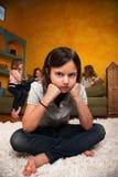 κορίτσι λίγα λυπημένα στοκ εικόνες με δικαίωμα ελεύθερης χρήσης