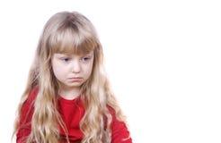 κορίτσι λίγα λυπημένα Στοκ Φωτογραφίες