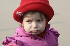κορίτσι λίγη δυσαρέσκει&a Στοκ Φωτογραφία