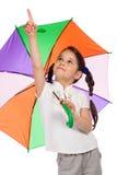 κορίτσι λίγη ομπρέλα υπόδ&epsilo Στοκ Φωτογραφία