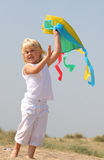 κορίτσι λίγη παραλία Στοκ εικόνα με δικαίωμα ελεύθερης χρήσης