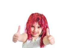 κορίτσι λίγη περούκα Στοκ εικόνα με δικαίωμα ελεύθερης χρήσης