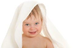 κορίτσι λίγη πετσέτα κάτω Στοκ φωτογραφίες με δικαίωμα ελεύθερης χρήσης