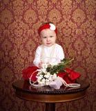 κορίτσι λίγος πίνακας συνεδρίασης στοκ φωτογραφίες με δικαίωμα ελεύθερης χρήσης