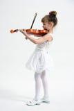 κορίτσι λίγο βιολί Στοκ Εικόνα
