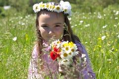 κορίτσι λίγο λιβάδι Στοκ Εικόνες