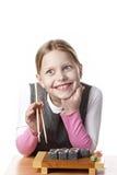 κορίτσι λίγο σούσι Στοκ Φωτογραφίες