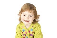 κορίτσι λίγο χαμόγελο πορτρέτου Στοκ Εικόνα