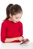 κορίτσι λίγο smartphone Στοκ εικόνα με δικαίωμα ελεύθερης χρήσης