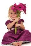 κορίτσι λουλουδιών λίγ&a στοκ εικόνα με δικαίωμα ελεύθερης χρήσης