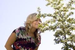 κορίτσι λουλουδιών πο&upsi Στοκ Εικόνα