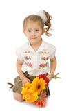 κορίτσι λουλουδιών στοκ εικόνα με δικαίωμα ελεύθερης χρήσης