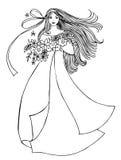 κορίτσι λουλουδιών Στοκ Φωτογραφίες