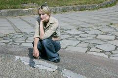 κορίτσι λυπημένο Στοκ εικόνες με δικαίωμα ελεύθερης χρήσης