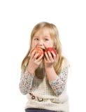 κορίτσι μήλων λίγα δύο Στοκ Φωτογραφία