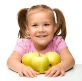 κορίτσι μήλων λίγα Στοκ εικόνα με δικαίωμα ελεύθερης χρήσης