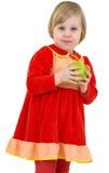 κορίτσι μήλων λίγα Στοκ Εικόνες