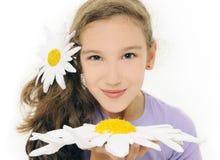 κορίτσι μαργαριτών Στοκ Φωτογραφία