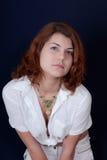 κορίτσι ματιών πράσινο Στοκ φωτογραφία με δικαίωμα ελεύθερης χρήσης