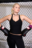 κορίτσι μαχητών Στοκ φωτογραφία με δικαίωμα ελεύθερης χρήσης