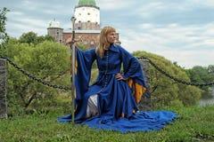 κορίτσι μεσαιωνικό Στοκ φωτογραφία με δικαίωμα ελεύθερης χρήσης