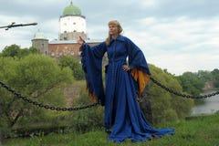 κορίτσι μεσαιωνικό Στοκ Φωτογραφίες