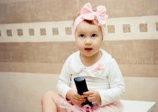 Κορίτσι με έναν απομακρυσμένο Στοκ Εικόνα
