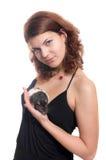 Κορίτσι με έναν αρουραίο κατοικίδιων ζώων στοκ φωτογραφία
