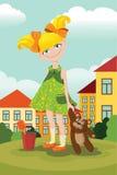 Κορίτσι με έναν teddybear Στοκ Εικόνες