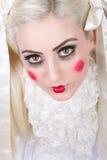 Κορίτσι με το καρότσι makeup στοκ εικόνες