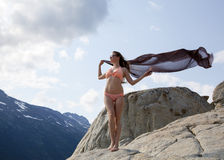 Κορίτσι με ένα μαντίλι Στοκ Εικόνες