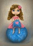 Κορίτσι με ένα μπαλόνι Στοκ Εικόνες