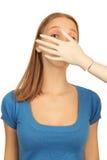 Κορίτσι με ένα ομοίωμα Στοκ εικόνες με δικαίωμα ελεύθερης χρήσης