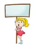 Κορίτσι με ένα σημάδι απεικόνιση αποθεμάτων