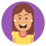 Κορίτσι με ένα όμορφο χαμόγελο Στοκ Εικόνα