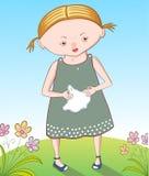 Κορίτσι με μια γρίπη Στοκ φωτογραφία με δικαίωμα ελεύθερης χρήσης