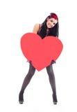 Κορίτσι με μια καρδιά Στοκ εικόνα με δικαίωμα ελεύθερης χρήσης