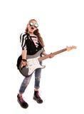 κορίτσι με μια κιθάρα στοκ φωτογραφία με δικαίωμα ελεύθερης χρήσης