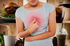 Κορίτσι με συμπτωματικό όξινο reflux Στοκ Φωτογραφίες