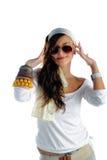 Κορίτσι με τα γυαλιά ηλίου στοκ φωτογραφία