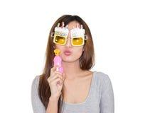 Κορίτσι με τα γυαλιά ηλίου Στοκ εικόνα με δικαίωμα ελεύθερης χρήσης