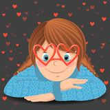 Κορίτσι με τα γυαλιά Στοκ Φωτογραφίες