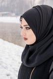 Κορίτσι με τα καταπληκτικά μπλε μάτια Στοκ Φωτογραφίες